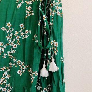 Faithfull the Brand Dresses - Faithfull the Brand Green Wrap Floral Dress